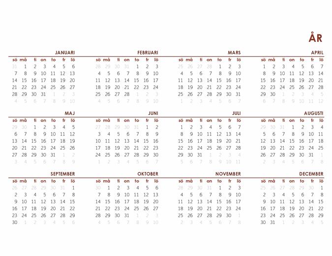 Global årskalender