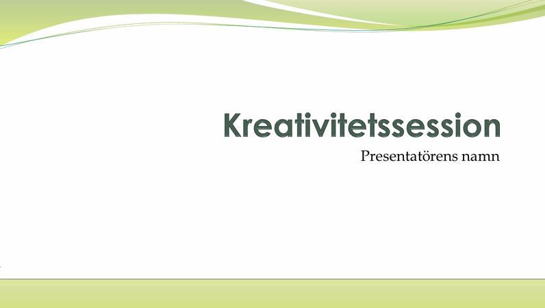 Företagspresentation för brainstorming