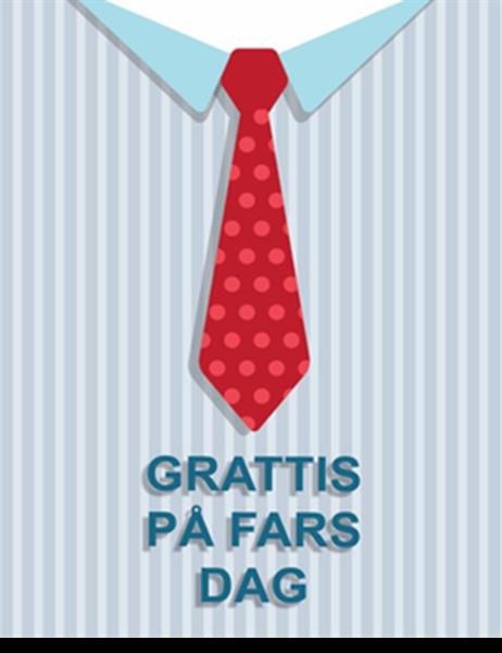 Fars dag-kort (fyrdubbel vikning)