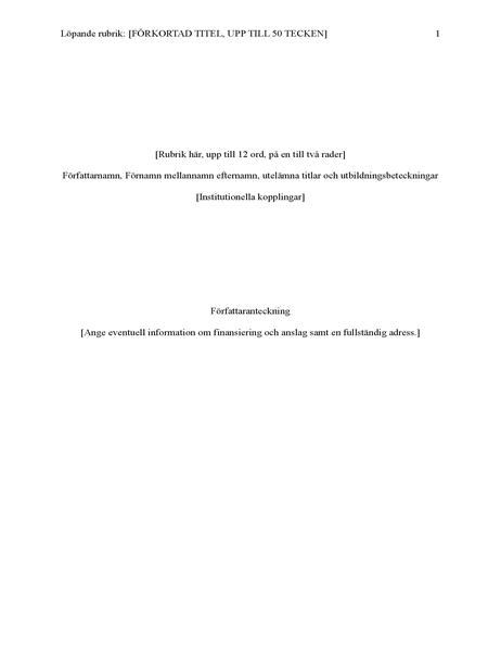 APA-format för uppsatser (6:e utgåvan)