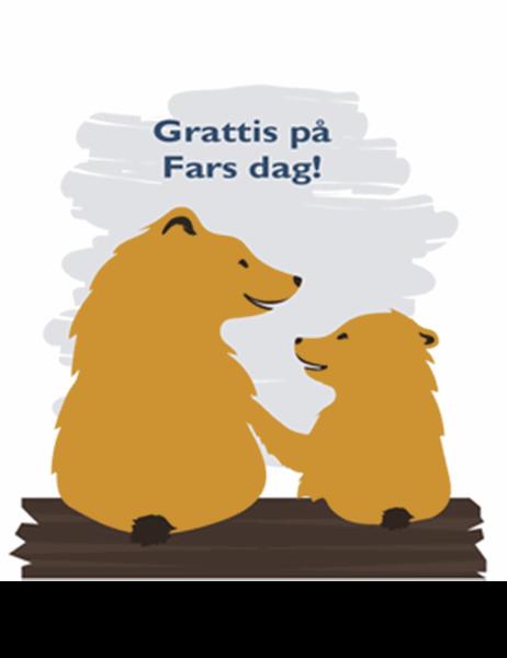 Fars dag-kort (från son, fyrdubbel vikning)