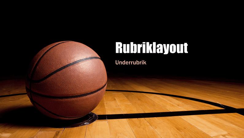 Basketpresentation (bredbild)
