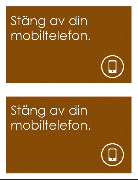 Mobil förbjuden, logotyp (2 per sida)