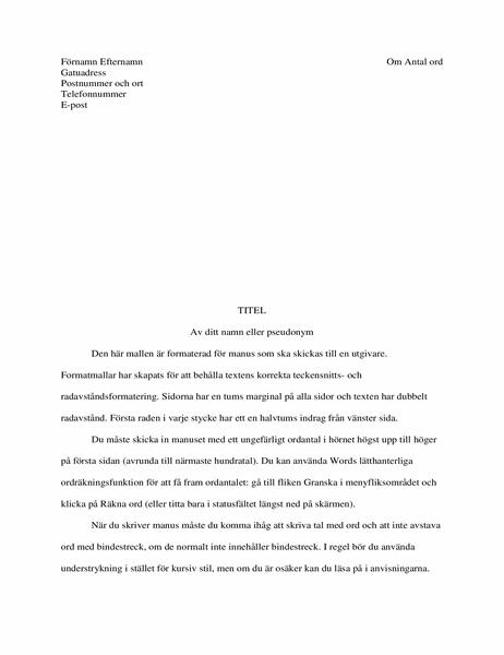 Manuskriptformat