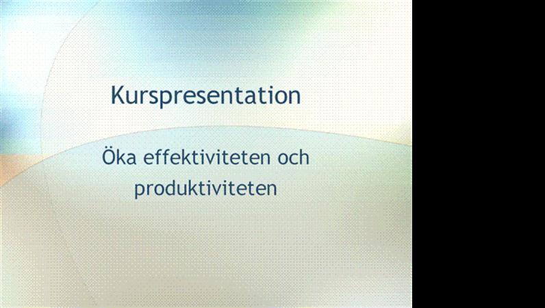 Presentation – utbildningsseminarium