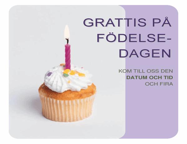 Födelsedagsinbjudan (med cupcake)
