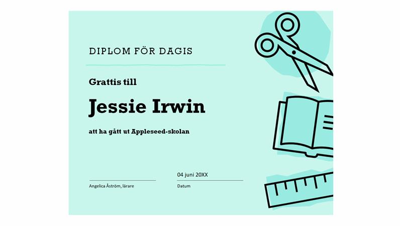 Diplom för dagis