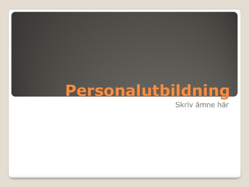 Presentation om personalutbildning