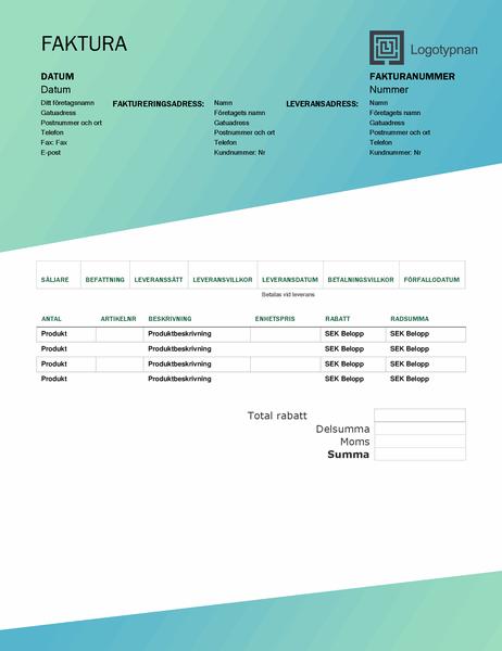 Faktura (designuppsättningen Grön toning)