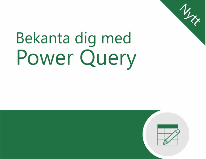 Självstudiekurs för Power Query