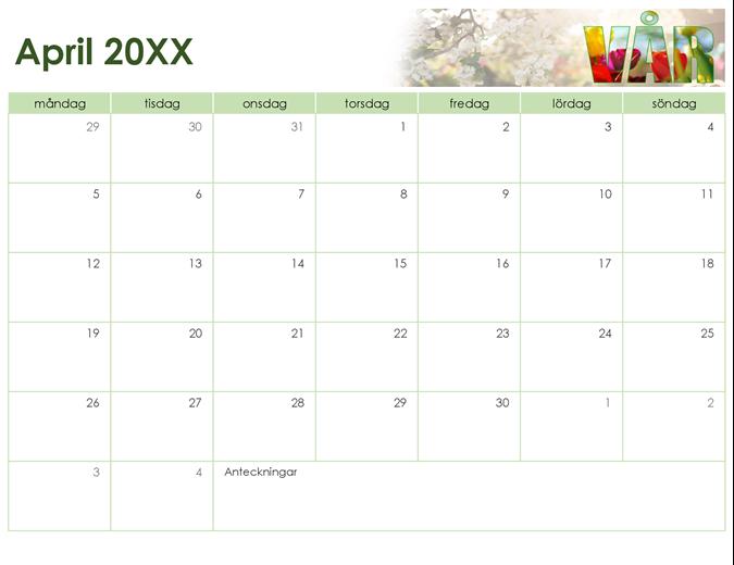 Fotokalender med årstider