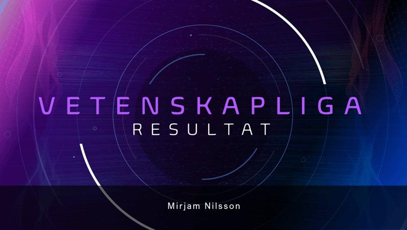 Presentation för vetenskapliga rön