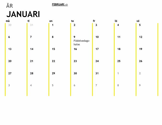 12-månaderskalender