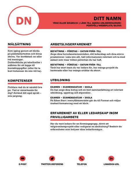 Elegant CV, utformat av MOO