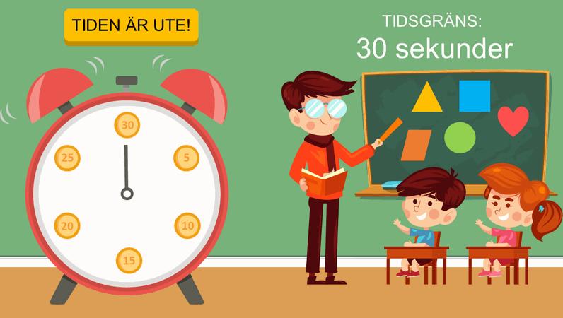 Tidtagare för klassrum (klocka)