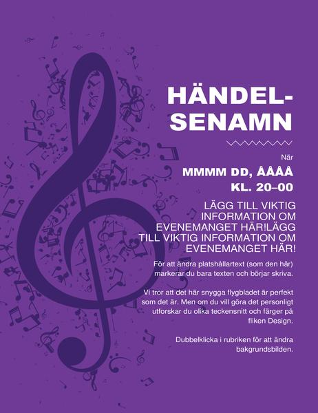 Musikflygblad