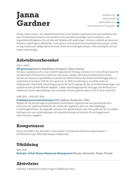 HR-CV