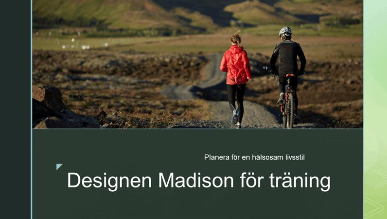 Designen Madison för träning