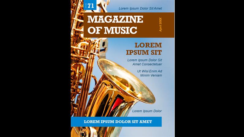 Omslag för musiktidskrift