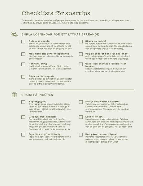 Checklista för spartips