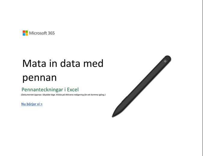Välkommen till Excel