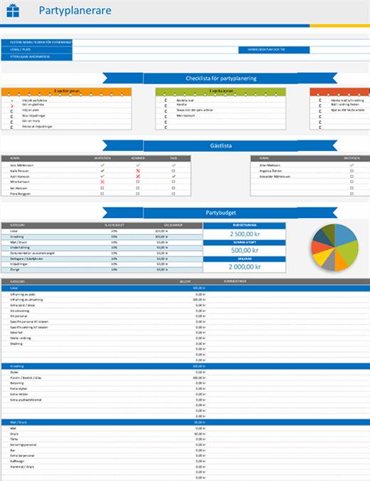 Festplanering och checklista