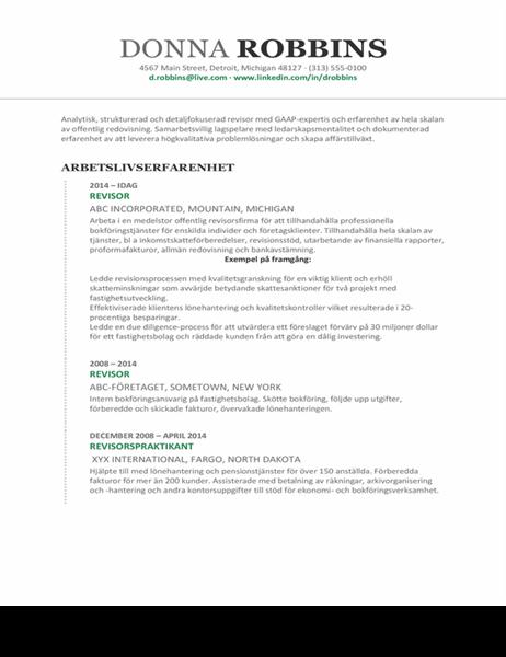 Redovisnings-CV