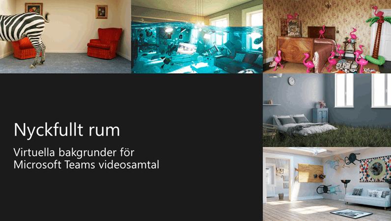 Nyckfulla virtuella rumsbakgrunder för Teams