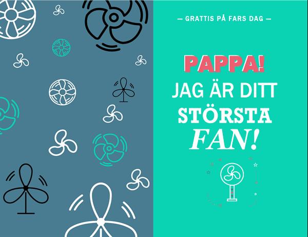 Fars dag-kort från pappas största fan