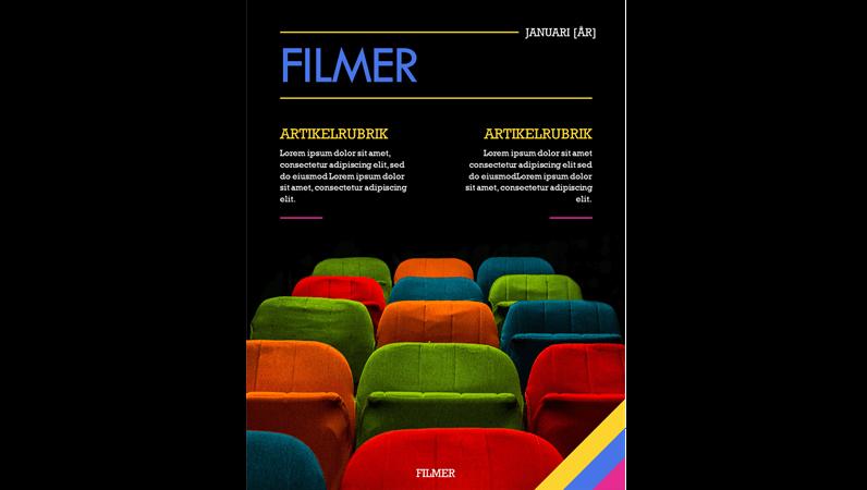 Omslag för filmtidskrift