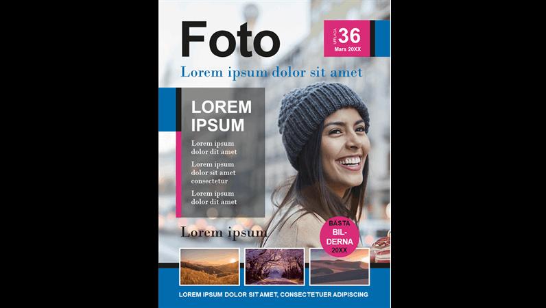 Omslag för fototidskrift
