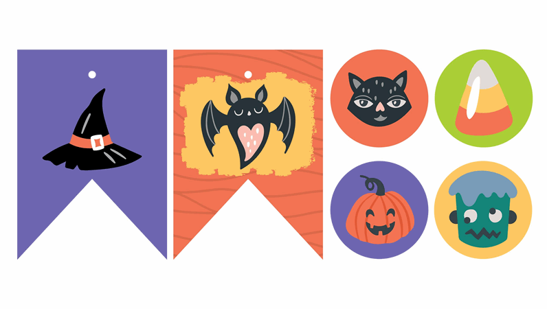 Utskrifter för Halloween-fest