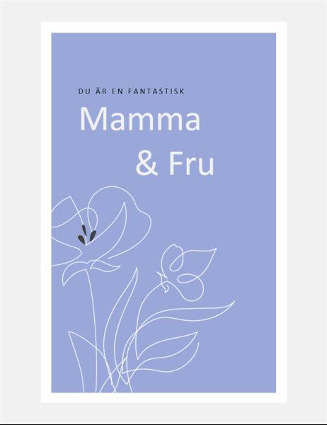 Elegant mors dag-kort