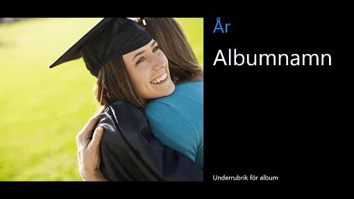 Skolavslutningsalbum, svart (bredbild)