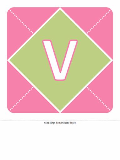 Välkommen tjejen-banderoll (rosa, lila och grönt)