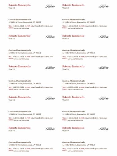 Visitkort med logotyp (10 per sida)