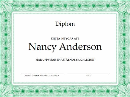 Diplom (grönt)
