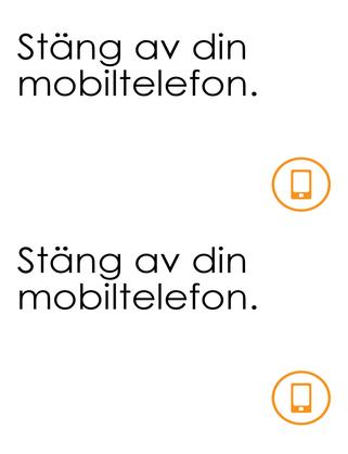 Påminnelse om att stänga av mobilen