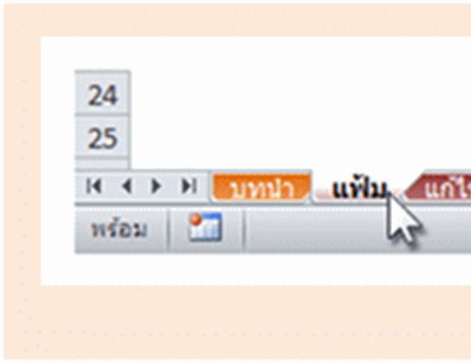 OneNote 2010: สมุดงานอ้างอิงสำหรับเมนูที่เปลี่ยนเป็น Ribbon