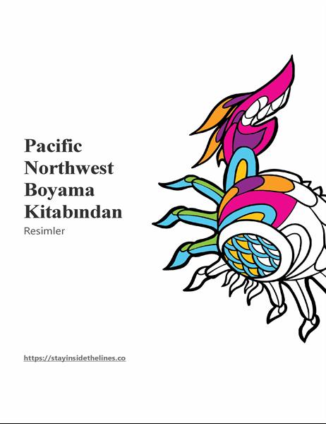 Pacific Northwest boyama kitabından resimler