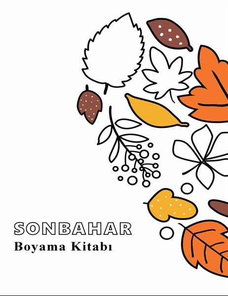 Sonbahar boyama kitabı