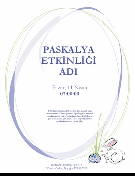 Paskalya etkinliği el ilanı (tavşanlı)