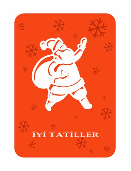 Tebrik kartı (Noel Baba)