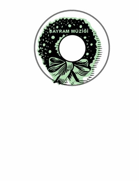 Bayram müziği CD'si üst etiketleri (Avery 5824 ile iyi sonuç verir)