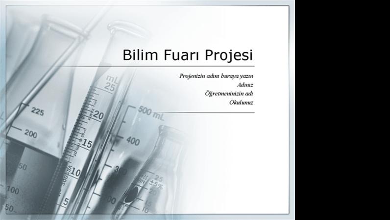 Bilim fuarı projesinin sunumu