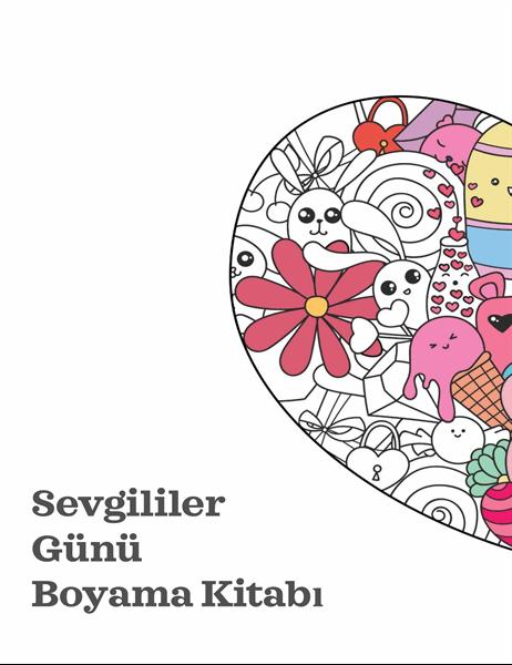 Sevgililer Günü boyama kitabı