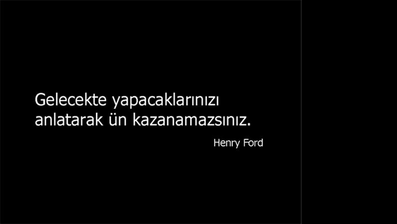 Henry Ford'dan alıntı slaytı