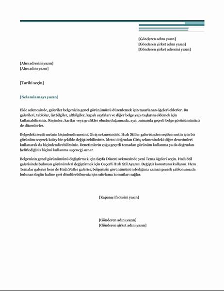 Mektup (Şehir Hayatı teması)
