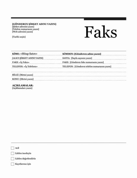 Adres mektup birleştirme faksı (Şehir Hayatı teması)