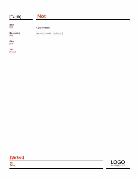 İş notu (kırmızı)
